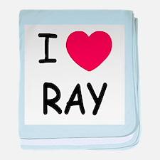 I heart ray baby blanket