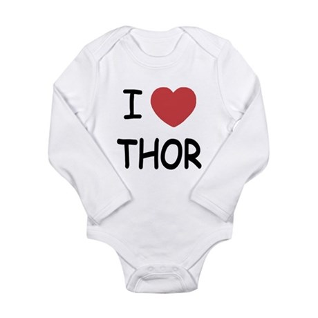 I heart Thor Long Sleeve Infant Bodysuit
