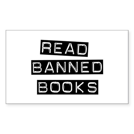 Read Banned Books Rectangle Sticker