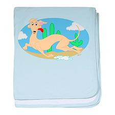 Running Greyhound Desert baby blanket
