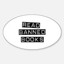 Read Banned Books Oval Decal