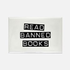 Read Banned Books Rectangle Magnet