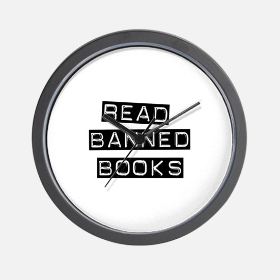 Read Banned Books Wall Clock
