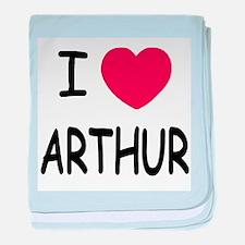 I heart Arthur baby blanket