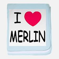 I heart Merlin baby blanket