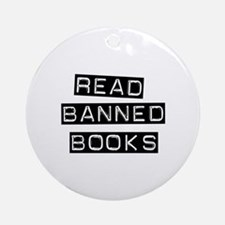 Read Banned Books Ornament (Round)