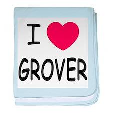 I heart Grover baby blanket