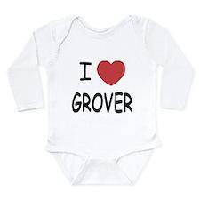 I heart Grover Long Sleeve Infant Bodysuit