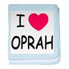 I heart Oprah baby blanket