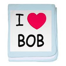 I heart Bob baby blanket