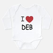 I heart Deb Long Sleeve Infant Bodysuit