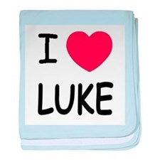 I heart Luke baby blanket