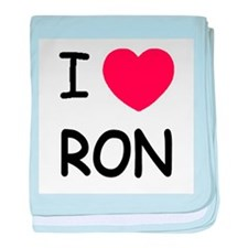 I heart Ron baby blanket