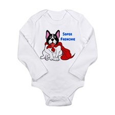 Super Frenchie Long Sleeve Infant Bodysuit