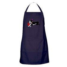 Boston Terrier Christmas Apron (dark)