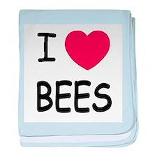 I heart bees baby blanket