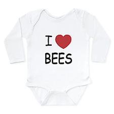 I heart bees Long Sleeve Infant Bodysuit