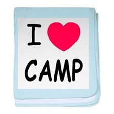 I heart camp baby blanket