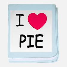 I heart pie baby blanket
