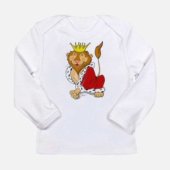 King Lion Cartoon Long Sleeve Infant T-Shirt