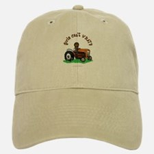 Dark Orange Farmer Baseball Baseball Cap