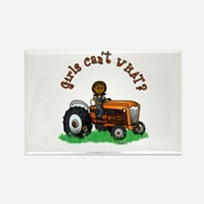 Dark Orange Farmer Rectangle Magnet