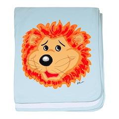 Smiling Lion Face baby blanket