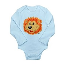 Smiling Lion Face Long Sleeve Infant Bodysuit