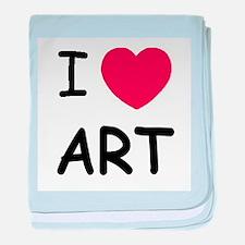 I heart art baby blanket