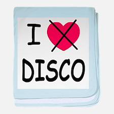 I hate disco baby blanket