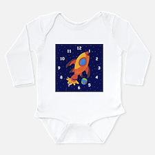 Unique Kids rocket Long Sleeve Infant Bodysuit