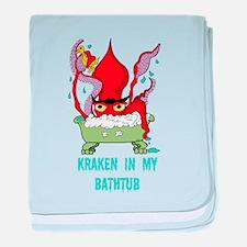 Bathtub Kraken Cartoon baby blanket
