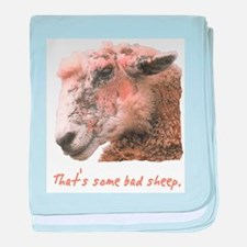 That's some bad sheep. baby blanket