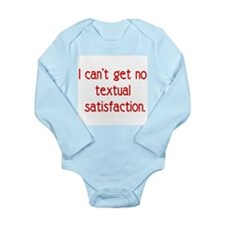 textual satisfaction Long Sleeve Infant Bodysuit