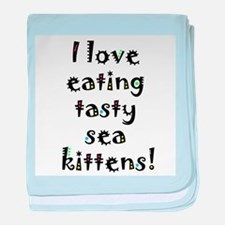 tasty sea kittens baby blanket