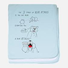 Bear Attacks Comic baby blanket