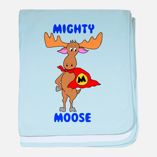 Mighty Moose baby blanket