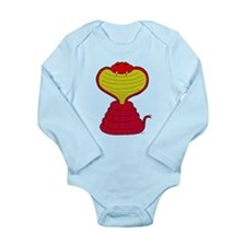 Cartoon Cobra Snake Long Sleeve Infant Bodysuit