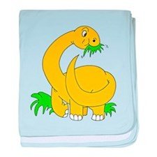 Baby Brontosaurus Dinosaur baby blanket
