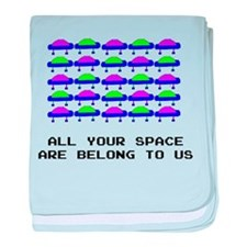All Your Space Aliens baby blanket