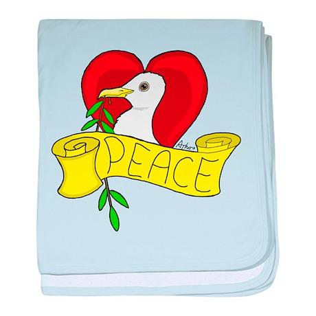 Peace Love Dove baby blanket