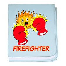 Firefighter Cartoon baby blanket