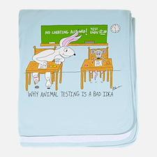 Animal Testing baby blanket