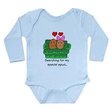 Couch Potato Love Long Sleeve Infant Bodysuit