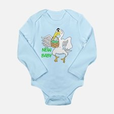New Baby Boy or Girl Long Sleeve Infant Bodysuit