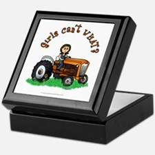 Light Orange Farmer Keepsake Box
