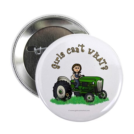 "Light Green Farmer 2.25"" Button"