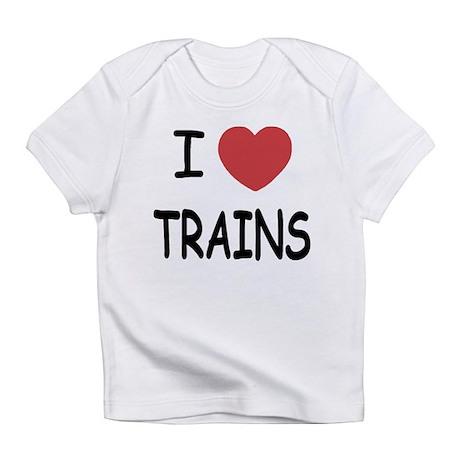 I heart trains Infant T-Shirt
