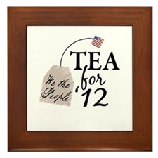 Vote Tea Party 2012 Framed Tile