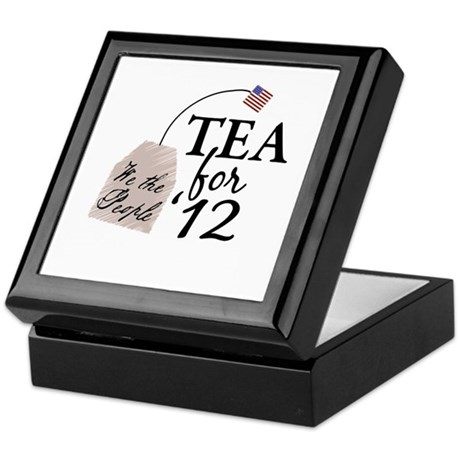 Vote Tea Party 2012 Keepsake Box
